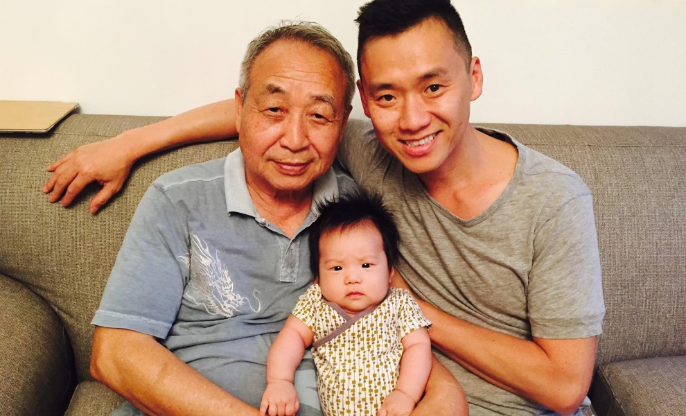 Drawing on old talent. And re-inspiring it. - ji lee family grandfather grandchild